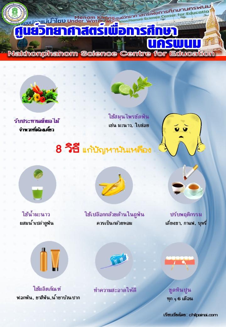 8 วิธีแก้ปัญหาฟันเหลือง